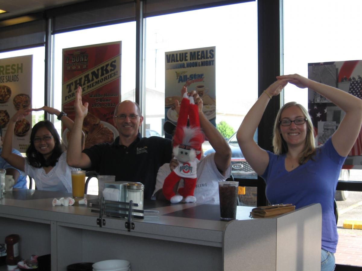 O - H - I - O at the Waffle House
