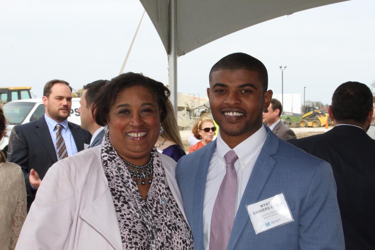 Wyatt with Shannetta Griffin at the ConRAC Groundbreaking Ceremony