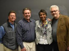 Ware (second from leftP) with some of his award nominators