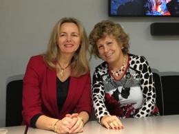 Pressor El Fray (left) with Professor Judit Puskas (right)