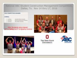ABC Construction Management Student Competition