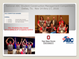 ABC Construction Management Student Competition
