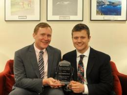 Dr. Ryan Winston (left) with his advisee and nominator Joseph Smith (right)