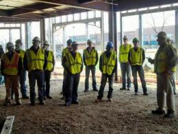 Team of CSM majors on a site visit